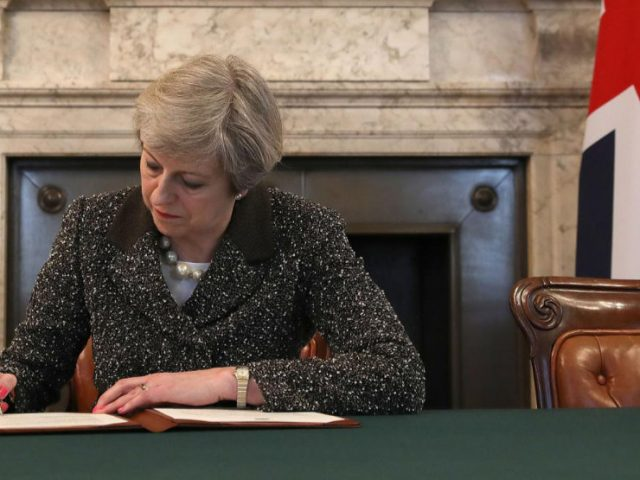 may signing Brexit letter